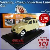 Neuf Citroen 2CV Canari Guisval Espagne 1/32 Citroën 2 CV - Cars & 4-wheels