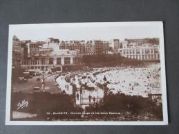 AK / Fotokarte 1940 Biarritz. Grande Plage Et Les Deux Casinos. Feldpost 2. Weltkrieg - Biarritz