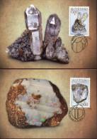 #0092 slovensko,  2 maxicard 2013  minerals,  mineraux