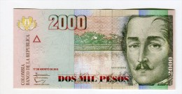 Colombie 2000 COP NEUF   4 EURO - Colombie