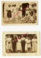 2 Petites Photos Anciennes Amateur Vers 1930- Joueuses De Croquet Format 8,5 X 5,8cm Chacune - Sports