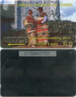 Telefonkarte Tonga - Wedding Dress  - 1CTGB - Tonga