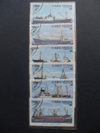 Capo Verde 1980 Freighters - Navi Mercantili - Isola Di Capo Verde