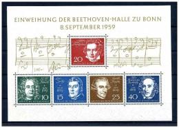 Germania - 1959 - nuovo/new - Beethoven - Mi Block 2