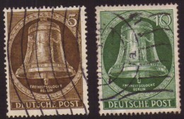 Germania - Berlino - 1953 - Usato/used - Campana - Mi N. 101/02 - Oblitérés