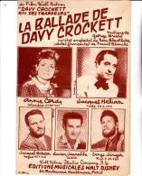"PARTITION MUSICALE ""LA BALLADE DE DAVY CROCKETT"" PAROLES DE FRANCIS BLANCHE- - Partitions Musicales Anciennes"