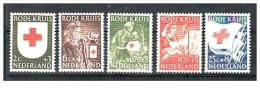 Olanda - 1953 - Usato/used - Croce Rossa - Mi N. 615/19 - Periodo 1949 - 1980 (Giuliana)