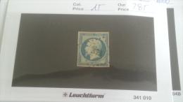 LOT 222729 TIMBRE DE FRANCE OBLITERE N�15 VALEUR 285 EUROS