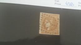 LOT 222758 TIMBRE DE FRANCE OBLITERE N�43B VALEUR 100 EUROS