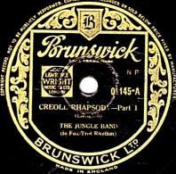 78 Trs - 25 Cm - état TB -  Brunswick 01145 - THE JUNGLE BAND - CREOLERHAPSODY Part 1 Et 2 - 78 Rpm - Schellackplatten