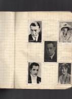 105 PHOTOS D'ARTISTES - Série Les Vedettes De L' Ecran, Offertes Par Le CHOCOLAT  KEMMEL à BOURBOURG - (sur Un Cahier) - Célébrités