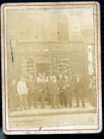 PARIS RESTAURANT 64 A SITUER PHOTO 1899 SUR CARTON EPAINS - Photos