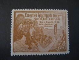 Paris 1900 Exposition Philatelique Internationale Poster Stamp Label Vignette Viñeta France - 1900 – Paris (France)