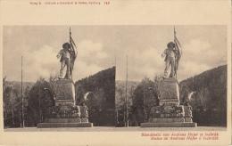 Carte Stereo Autriche Ostereich Insbruk Statue De Andreas Hofer - Cartes Stéréoscopiques