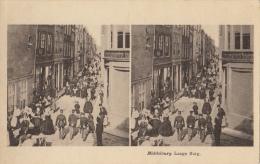 Carte Stereo Hollande Holland Middelburg  Lange Burg - Cartes Stéréoscopiques