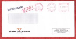 Einschreiben Reco, Sydfyns Discontobank, Kinderkoepfe, Absenderfreistempel, Ungdomskonto, Faeborg 1985 (60076) - Cartas