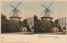 Carte Stereo Allemagne Deutschland Mule Moulin Sanssouci - Cartes Stéréoscopiques