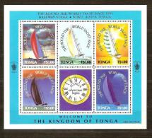 Tonga 1991 Yvertn° Bloc 16 *** MNH Cote 15 Euro Voiliers Yacht Race - Tonga (1970-...)