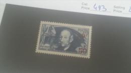LOT 222897 TIMBRE DE FRANCE NEUF* N�493 VALEUR 40 EUROS