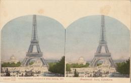 Carte Stereo France Paris Tour Eiffel - Cartes Stéréoscopiques