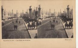 Carte Stereo France Paris Exposition 1900 Palais Des Invalides - Cartes Stéréoscopiques