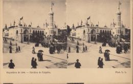 Carte Stereo France Paris Exposition 1900 Pavillon De L'Algérie - Cartes Stéréoscopiques