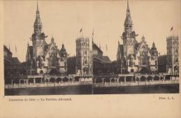 Carte Stereo France Paris Exposition 1900 Pavillon Allemand - Cartes Stéréoscopiques