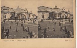 Carte Stereo France Paris Exposition 1900 Le Grand Palais - Cartes Stéréoscopiques