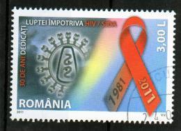 RUMANIA / ROMANIA / ROUMANIE  Año 2011  SIDA  Usada - 1948-.... Repúblicas