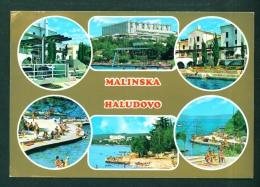 YUGOSLAVIA  -  Malinska  Multi View  Postcard  Used To The UK As Scans - Yugoslavia