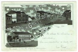 ROMANIA/ROUMANIE - GRUSS AUS SACHSISCH REGEN/REGHIN - OLD LITHO 1901 - Romania