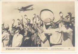 UZBEKISTAN PLANE AVION CPA NON CIRCULEE TBE AÑO 1936 UNCIRCULATED DOS DIVISE RARISIME YEAR 1936 - Oezbekistan