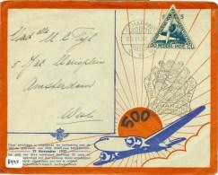 SPECIALE LUCHTPOSTBRIEF 500e POSTVLUCHT * NEDERLANDS INDIE Uit 1937 Van SEMARANG Naar AMSTERDAM (8945) - Nederlands-Indië