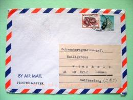 Korea South 1996 Cover To Switzerland - Cart Shaped Earthware - Celadon Water Dropper - Korea, South