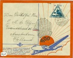 SPECIALE LUCHTPOSTBRIEF 500e POSTVLUCHT * NEDERLANDS INDIE Uit 1937 Van BATAVIA Naar AMSTERDAM (8948) - Niederländisch-Indien