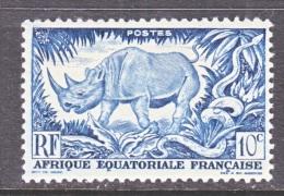 A.E.F.  166     **  FAUNA  RHINO - Unused Stamps