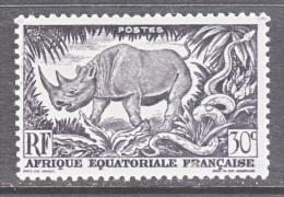 A.E.F.  167     **  FAUNA  RHINO - Unused Stamps