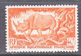 A.E.F.  168     *  FAUNA  RHINO - Unused Stamps