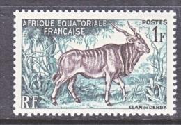 A.E.F.  195     *   FAUNA  GIANT  ELAND - Unused Stamps
