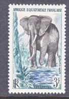 A.E.F.  197     *   FAUNA    ELEPHANT - Unused Stamps