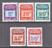A.E.F.  J 1-5   * - Unused Stamps