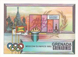 Grenada Grenadines 1980 Moscow Olympics Souvenir Sheet MNH - Grenada (1974-...)