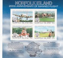 Norfolk Island 1983 Manned Flight Bicentenary Souvenir Sheet MNH - Norfolk Island