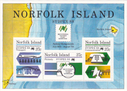 Norfolk Island 1988 Sydpex 88  Souvenir Sheet MNH - Norfolk Island