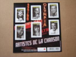 2011   F4605  NO YV 4605/4610  BLOC GRANDS NOMS DE LA CHANSON OLYMPIA  ( Vendu 5.6e )   SOUS LA FACIALE . - Neufs