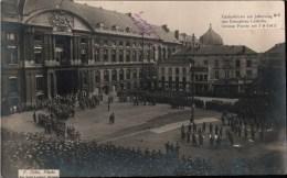 ! alte Fotokarte, photo, 1915 L�ttich, Liege, Gedenkfeier am Jahrestag der Einnahme L�ttichs, Militaria, W�rttemberg