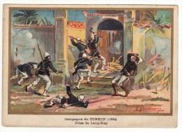 Chromo Didactique Germain Campagne Du Tonkin (1884) Prise De Lang-Kep Militaria Armée Chinoise - Sin Clasificación