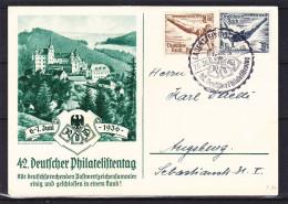 Jeux Olympiques - Athlétisme - Plongeon - Allemagne - Empire - Carte Postale De 1936 - Oblitération Lauenstein - Deutschland