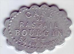 Monnaie De Nécessité - LOIRE 42 - St Etienne - Café De Raspail Bourgin. 12 1/2c - Frappe Décentrée - - Monetari / Di Necessità