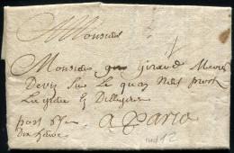 LETTRE D'ORLÉANS DU 1702 POUR PARIS - TB - Marcophilie (Lettres)